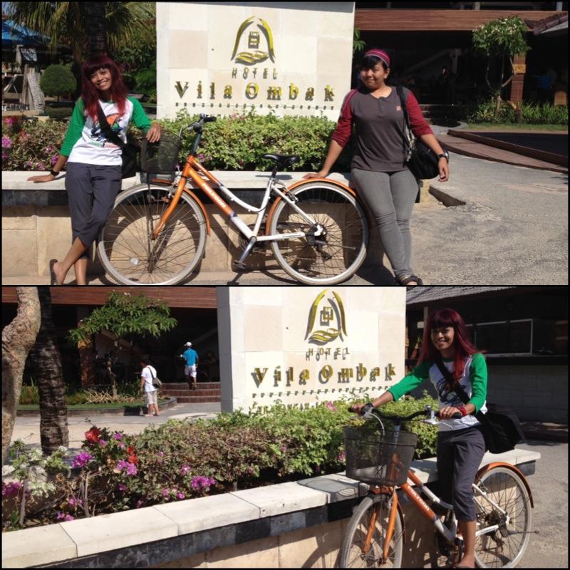 ah ya, sepedaan dulu sebelum nyebrang ke Lombok