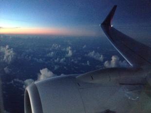 Pemandangan dari atas, saya benar-benar cinta sama langit dan awan