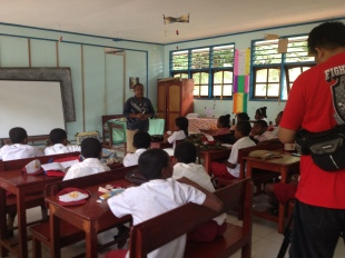 Syuting di kelas