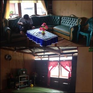 KET :  Atas : ruang tamu Bawah : ruang keluarga
