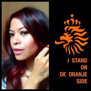 i stand on oranje